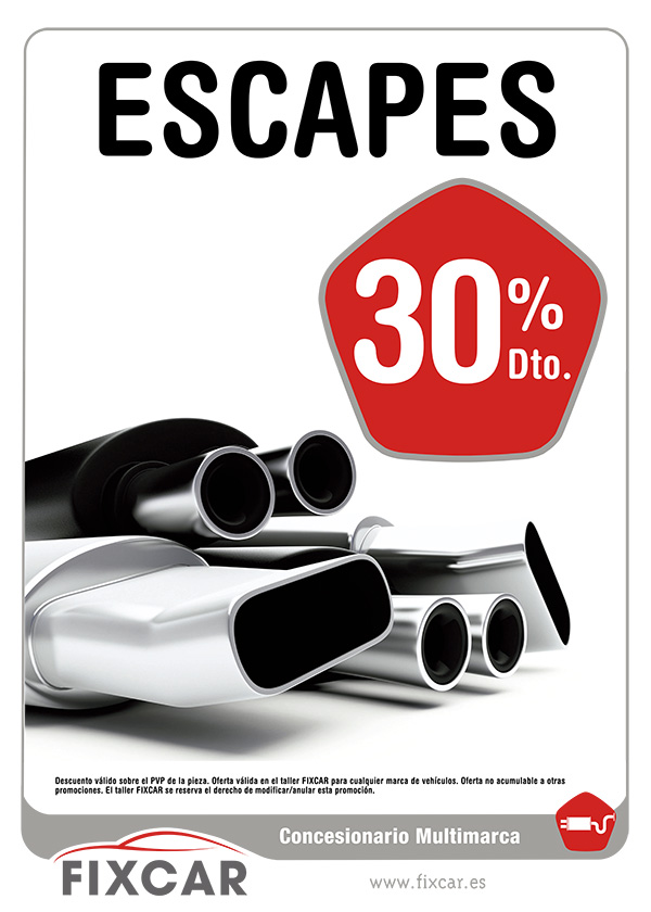 Oferta de Escapes en red de concesionarios multimarca FIXCAR